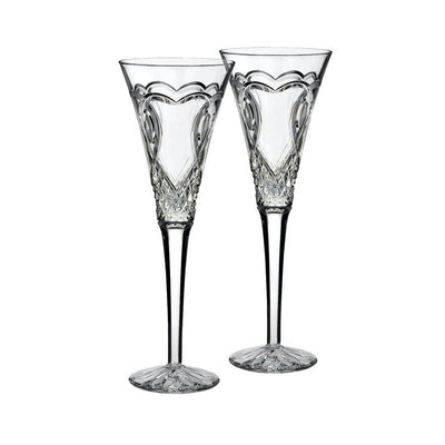 Waterford Crystal Wedding Toasting Flute Pair Barware Waterford Crystal