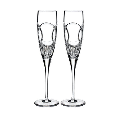 Waterford Crystal Love Wedding Vows Flute Pair Barware Waterford Crystal