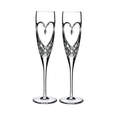 Waterford Crystal Love True Love Flute Pair Barware Waterford Crystal