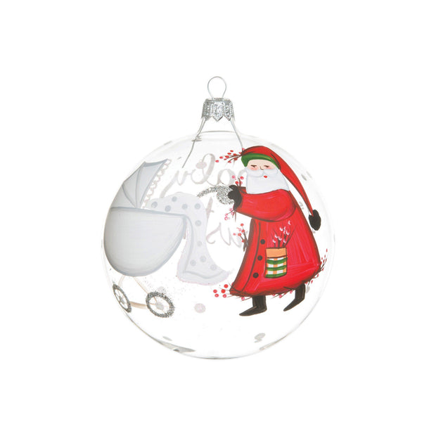 Vietri Old St. Nick Baby's First Christmas Ornament Dinnerware Vietri
