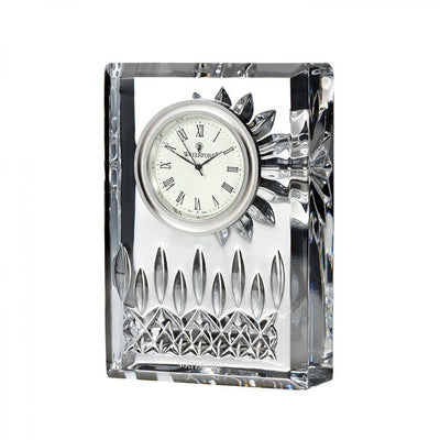 "Waterford Crystal Lismore 4"" Clock Clocks Waterford Crystal"
