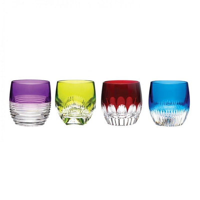 Waterford Crystal Mixology Colored Tumbler, Set of 4 Barware Waterford Crystal