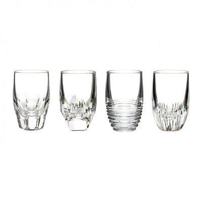 Waterford Crystal Mixology Assorted Clear Shot Glass, Set of 4 Barware Waterford Crystal