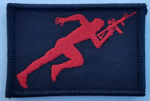 Running Man Patch - The Gun Run Store