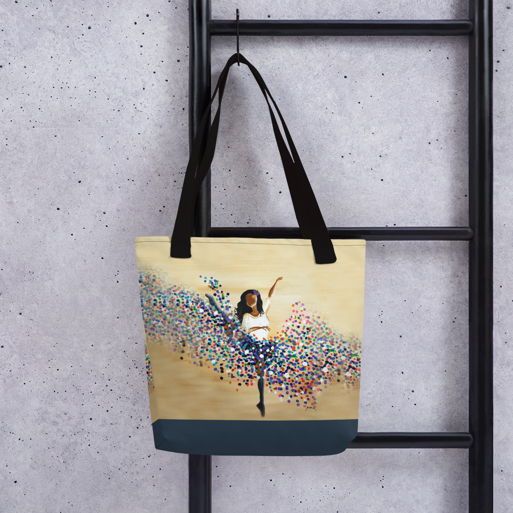 Twirl of Color Tote bag