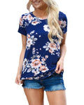 Blue Floral Maternity T-shirt