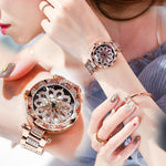 【FREE SHIPPING】 Dimini Sparkling Dance Women Watches Diamond Luxury Lady Watch
