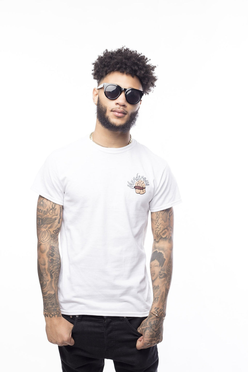 Smoke Murderous Tee | White - Murderous Clothing