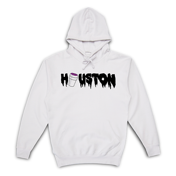 Purple City Hoodie | White