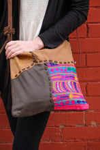 Brown and Tan Crossbody Purse
