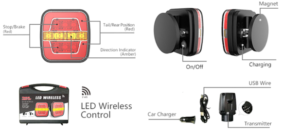 Wireless Rear Combination Light Kit