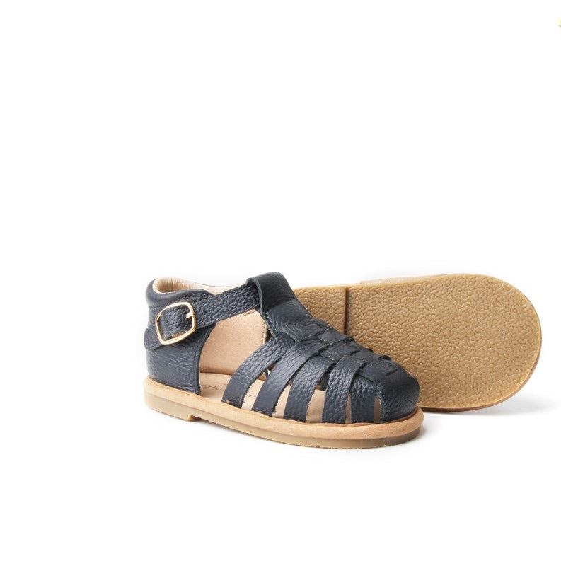 Leather Navy Sandals