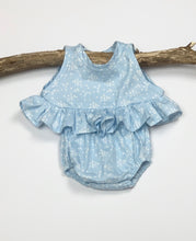 Load image into Gallery viewer, Sky Blue Peplum Shirt
