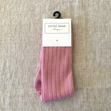 Load image into Gallery viewer, Ribbed Socks Pink