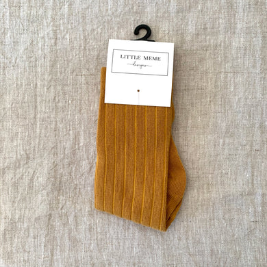 Ribbed Socks Mustard