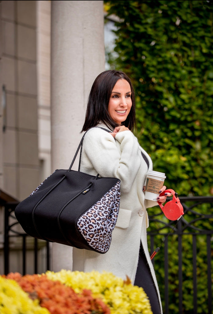 *NEW* Leopard Zippered Tote by Sabi Chic (Pre Order only)