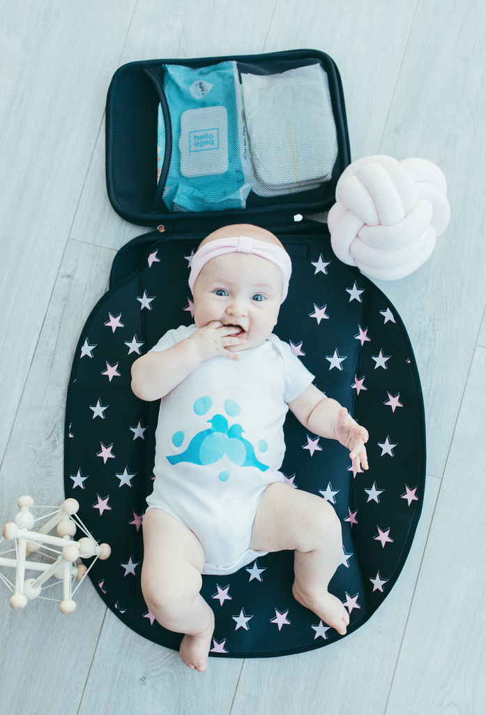 *NEW* Mobile Baby Change Pad - Pink Star