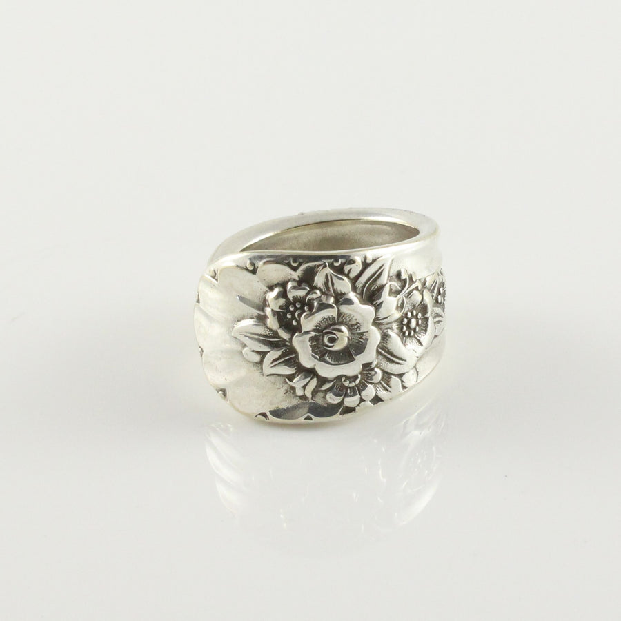 Antique Silver Spoon Ring (Size N)