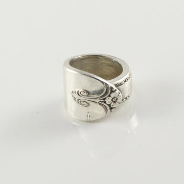 Antique Silver Spoon Ring (Size G)