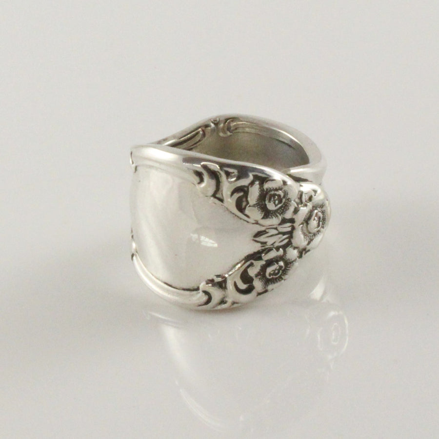 Antique Silver Spoon Ring (Size P)