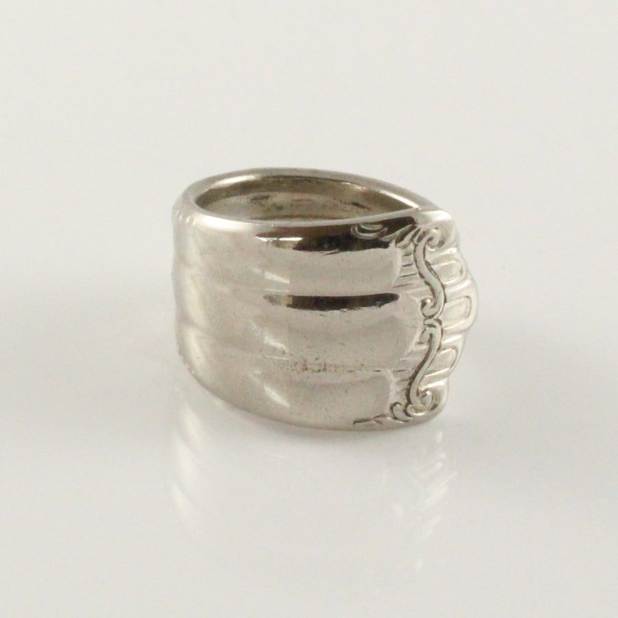 Antique Silver Spoon Ring (Size O)
