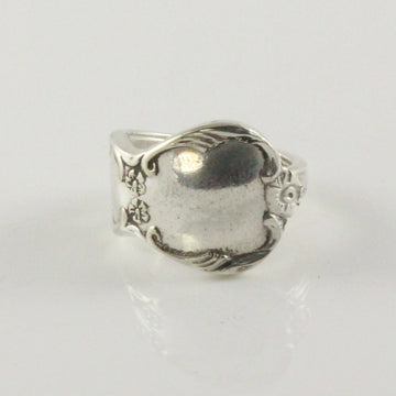 Antique Silver Spoon Ring (Size Q)