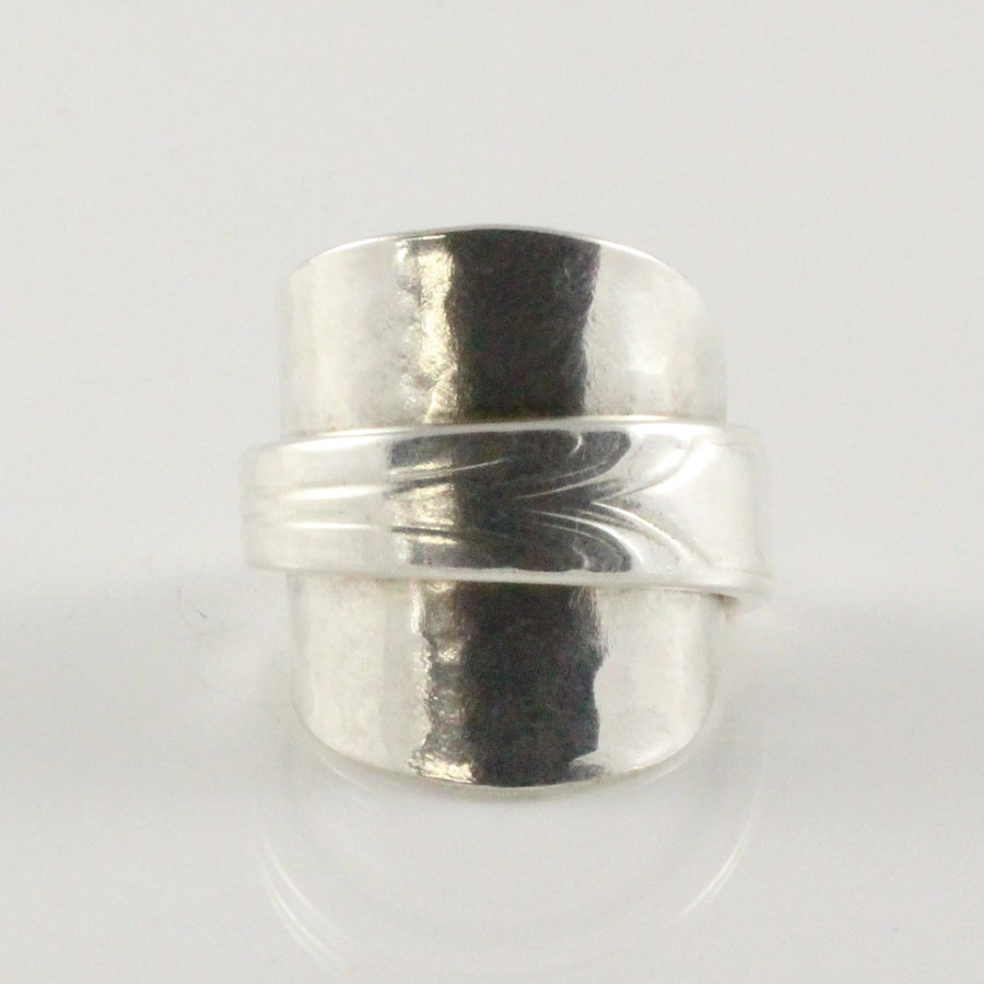 Antique Silver Spoon Bowl Ring (Size V)