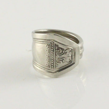 Antique Silver Spoon Ring (Size S)