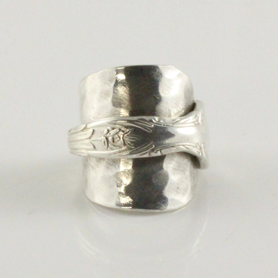 Antique Silver Spoon Bowl Ring (Size O)