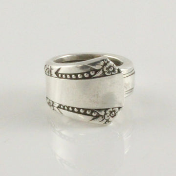 Antique Silver Spoon Ring (Size M)