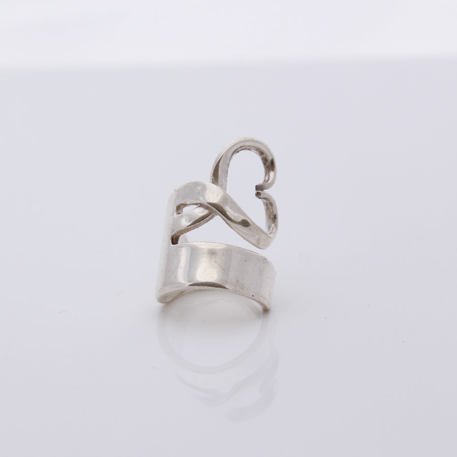 Antique Silver Fork Ring (Size Q)