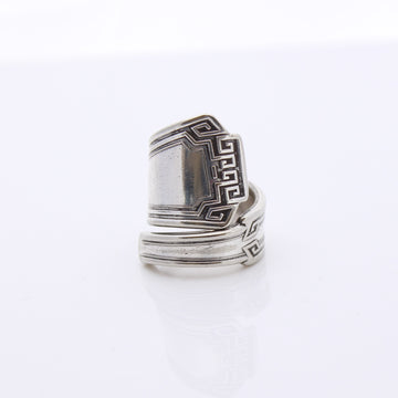 Antique Silver Wrap Around Ring (Size P)