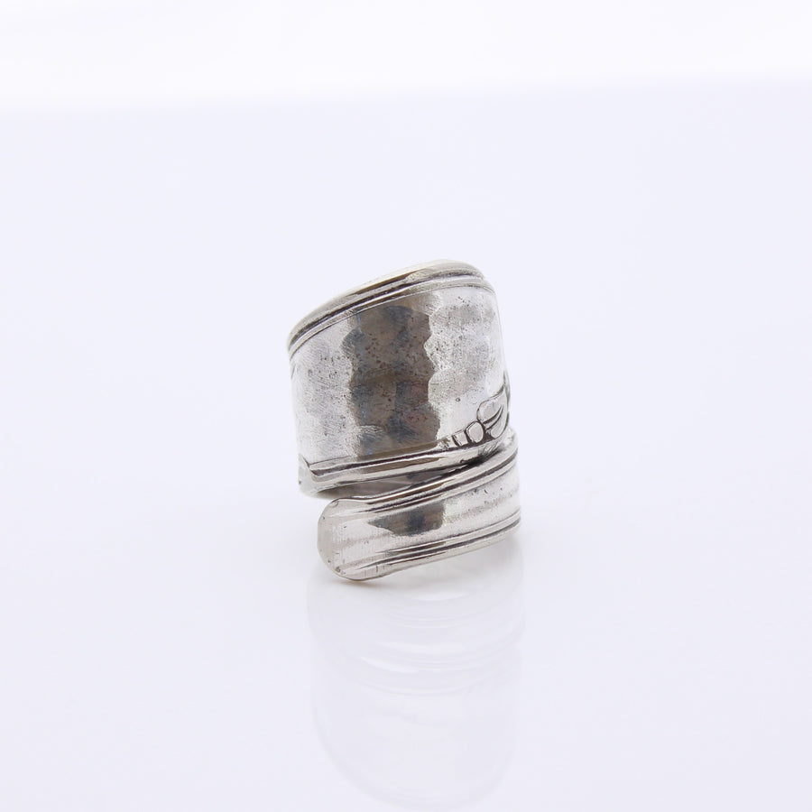 Antique Silver Wrap Around Ring (Size H)