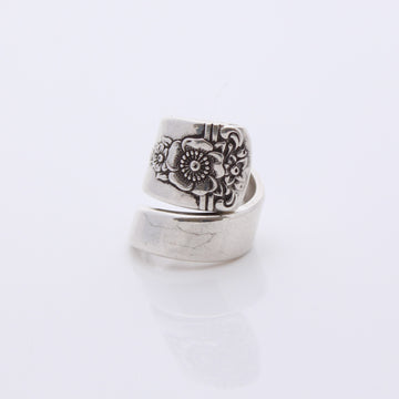Antique Silver Wrap Around Ring (Size I)
