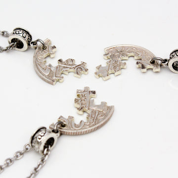 Three piece jigsaw pendant out of a 1966 Silver 50c Coin