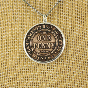 Australian Penny Pendant with chain