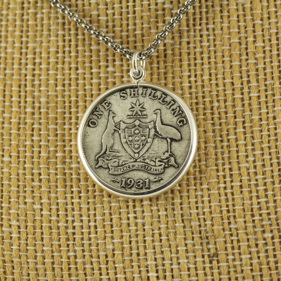 Australian Shilling Pendant with chain