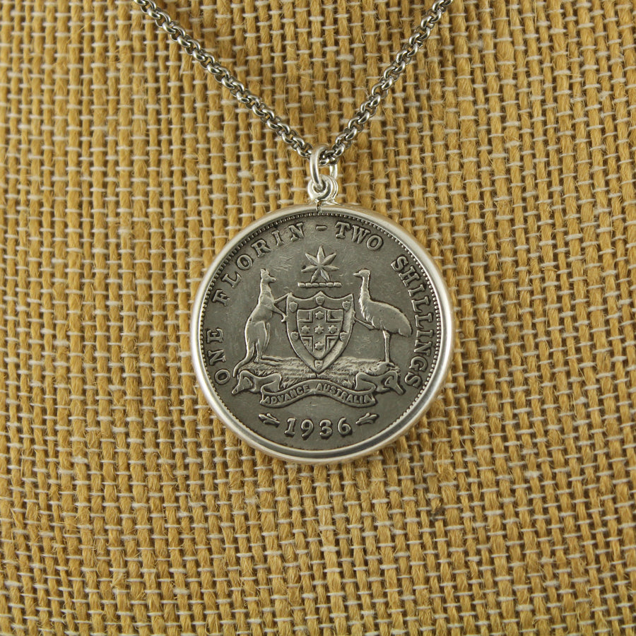 Australian Florin Pendant with chain