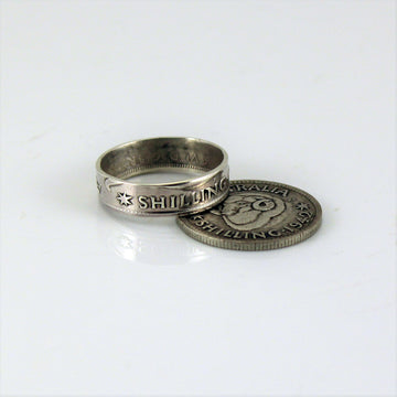Australian Sterling Silver Shilling Coin Ring