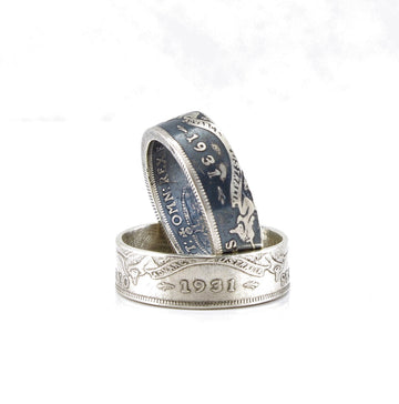 Australian Sterling Silver Florin Coin Ring