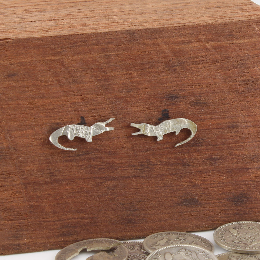 Crocodile Coin Earrings