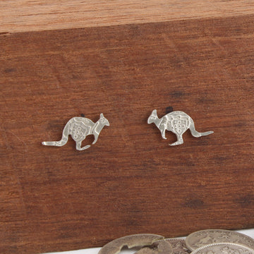 Kangaroo Coin Earrings