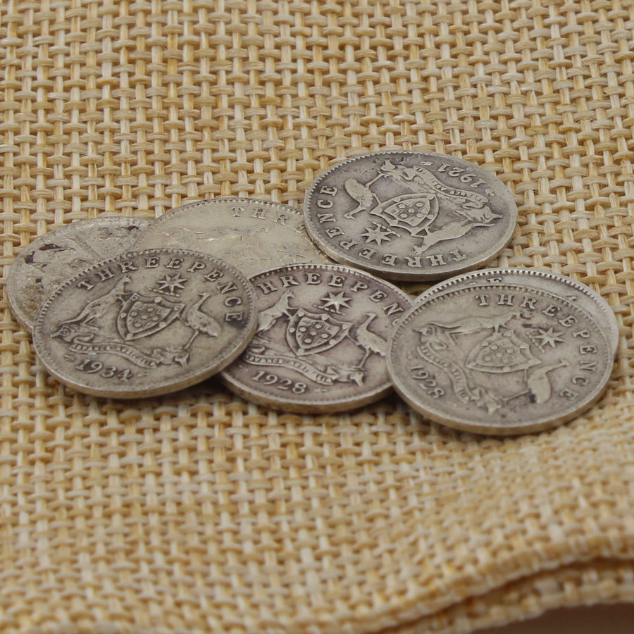 Three Pence Coin Earrings