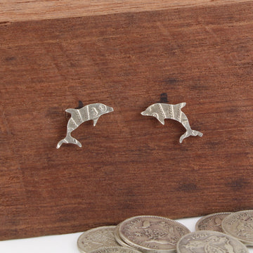 Dolphin Coin Earrings