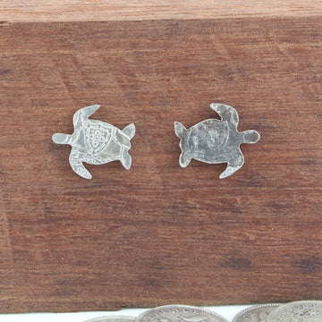 Turtle Coin Earrings
