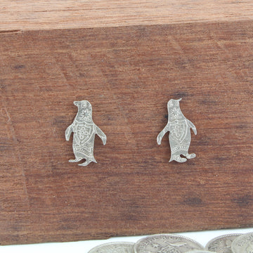 Penguin Coin Earrings