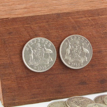 Six Pence Coin Earrings