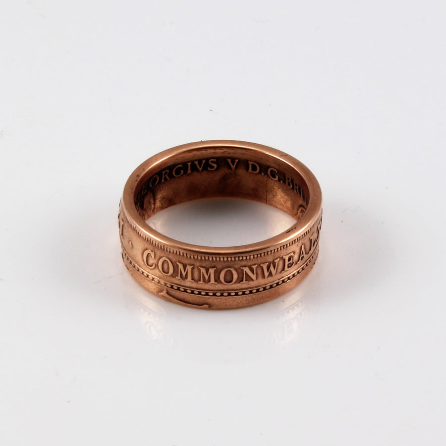 Australian Penny Coin Ring
