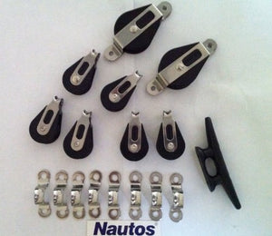 Nautos #003 - Lazy Jack Kit Type C - Large (Boats from 39' to 46')- Hardware Only