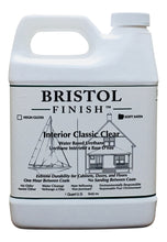 Load image into Gallery viewer, Bristol Finish Interior Classic Clear Water Based Urethane - Soft Satin Finish Quart